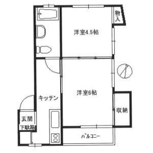 2K Mansion in Taishido - Setagaya-ku Floorplan