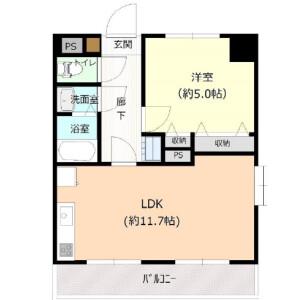 1LDK {building type} in Shimmachi - Setagaya-ku Floorplan