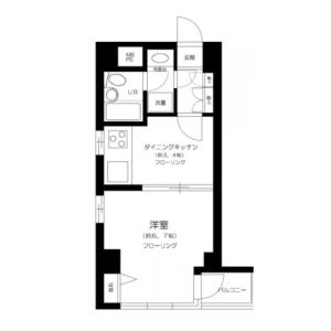 1DK Mansion in Higashiikebukuro - Toshima-ku Floorplan