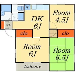 3DK Apartment in Wakamiya - Ichikawa-shi Floorplan
