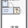 1K 아파트 to Rent in Ome-shi Floorplan