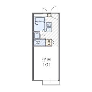 1K 아파트 in Nogamicho - Ome-shi Floorplan