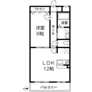 1LDK Mansion in Shinkamagaya - Kamagaya-shi Floorplan