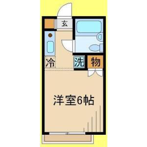 1K Apartment in Takahata - Hino-shi Floorplan