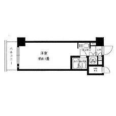 1K Mansion in Tsukiji - Chuo-ku Floorplan