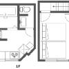 2LDK Apartment to Rent in Minato-ku Layout Drawing