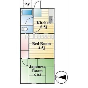 2K Apartment in Yanaka - Taito-ku Floorplan