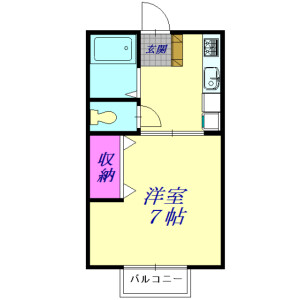 1K Apartment in Shimmei - Konosu-shi Floorplan