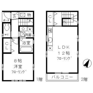 1LDK House in Minamiyukigaya - Ota-ku Floorplan
