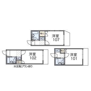 1K Apartment in Omakicho - Nagoya-shi Moriyama-ku Floorplan