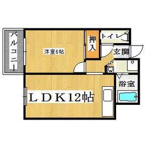 1LDK Mansion in Nishiawaji - Osaka-shi Higashiyodogawa-ku Floorplan