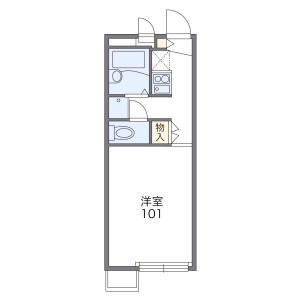 1K Apartment in Minamimukonoso - Amagasaki-shi Floorplan