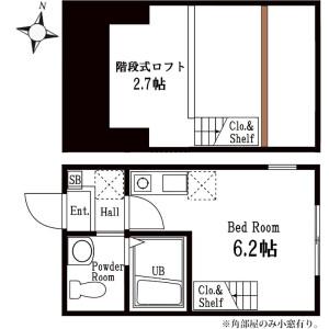 1R Apartment in Okurayama - Yokohama-shi Kohoku-ku Floorplan