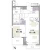 1LDK Apartment to Buy in Nakano-ku Floorplan