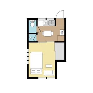 1K Apartment in Hatagaya - Shibuya-ku Floorplan