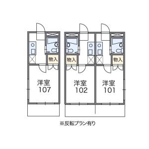 新宿区原町-1K公寓 楼层布局