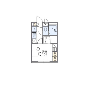 1K Mansion in Nakamoto - Osaka-shi Higashinari-ku Floorplan