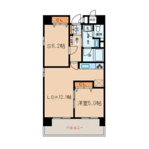 1SLDK Mansion in Shibaura(2-4-chome) - Minato-ku Floorplan