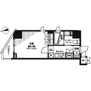 1K Mansion in Motoasakusa - Taito-ku Floorplan