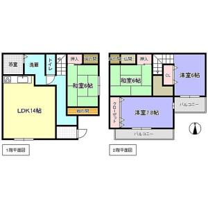 4LDK {building type} in Yamashirocho hirao - Kizugawa-shi Floorplan