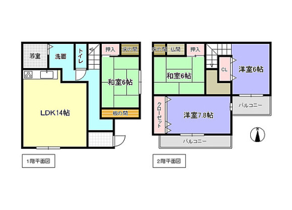 4LDK House to Buy in Kizugawa-shi Floorplan