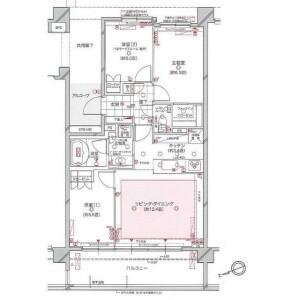 3LDK {building type} in Higashikubocho - Yokohama-shi Nishi-ku Floorplan