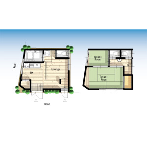 2LDK House in Asakusa - Taito-ku Floorplan