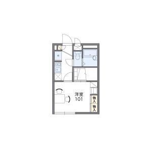 1K 아파트 in Okubo - Yokohama-shi Konan-ku Floorplan