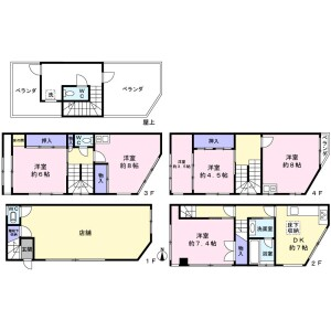 Whole Building {building type} in Ebisunishi - Osaka-shi Naniwa-ku Floorplan