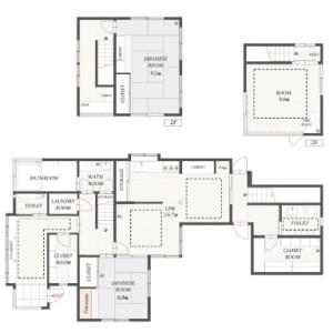 3SLDK {building type} in Kitashirakawa yamadacho - Kyoto-shi Sakyo-ku Floorplan