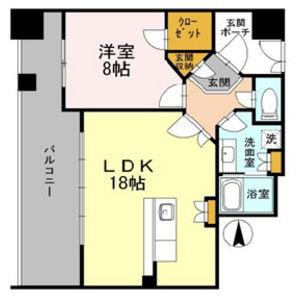 1LDK Mansion in Kozu - Osaka-shi Chuo-ku Floorplan