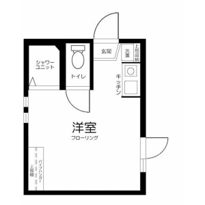 新宿区 高田馬場 1R アパート 間取り