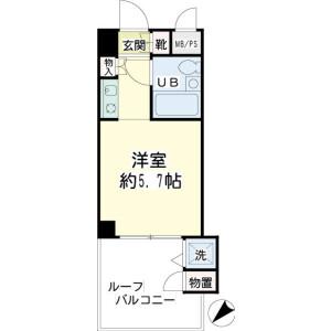 1R Mansion in Hiyoshihoncho - Yokohama-shi Kohoku-ku Floorplan
