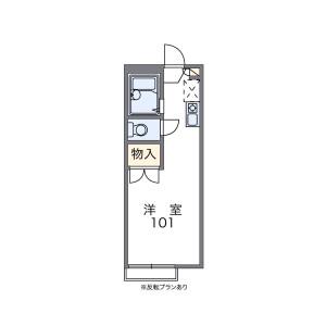 1K Apartment in Shimookubo - Saitama-shi Sakura-ku Floorplan