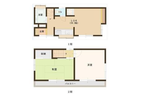 在北區購買2LDK 獨棟住宅的房產 內部