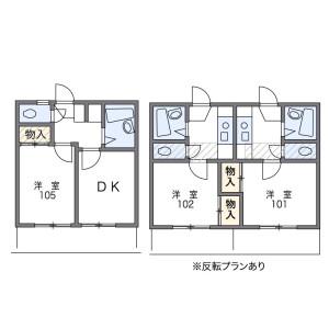 1K Apartment in Machiya - Saitama-shi Sakura-ku Floorplan