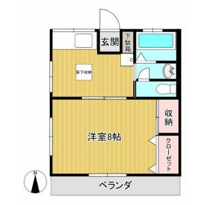 1DK Apartment in Arima - Kawasaki-shi Miyamae-ku Floorplan