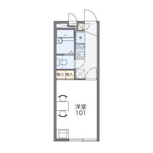 1K Mansion in Kurosuna - Chiba-shi Inage-ku Floorplan