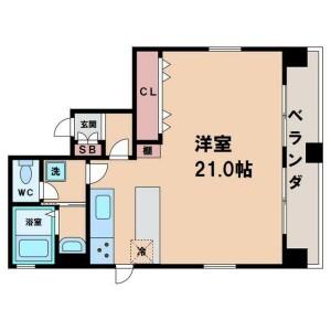 1R Mansion in Nishitanabecho - Osaka-shi Abeno-ku Floorplan