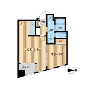 1LDK Mansion in Hanegi - Setagaya-ku Floorplan