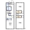 2DK Apartment to Rent in Kisarazu-shi Floorplan