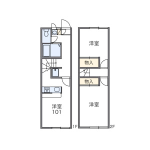 2DK Apartment in Jozai higashi - Kisarazu-shi Floorplan