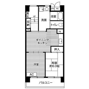 2LDK Mansion in Azuma - Narita-shi Floorplan