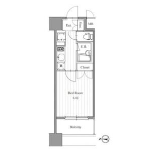 1K Mansion in Morishita - Koto-ku Floorplan