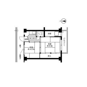 2K Mansion in Naganumacho - Chiba-shi Inage-ku Floorplan