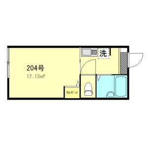 1K Apartment in Kameido - Koto-ku Floorplan