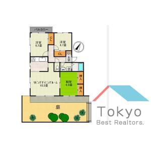 3LDK Mansion in Saginomiya - Nakano-ku Floorplan