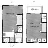 1LDK Terrace house to Rent in Ota-ku Floorplan