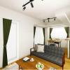 在涩谷区购买1LDK 公寓大厦的 起居室