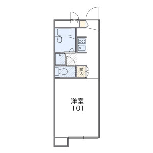 1K Mansion in Nishinarashino - Funabashi-shi Floorplan